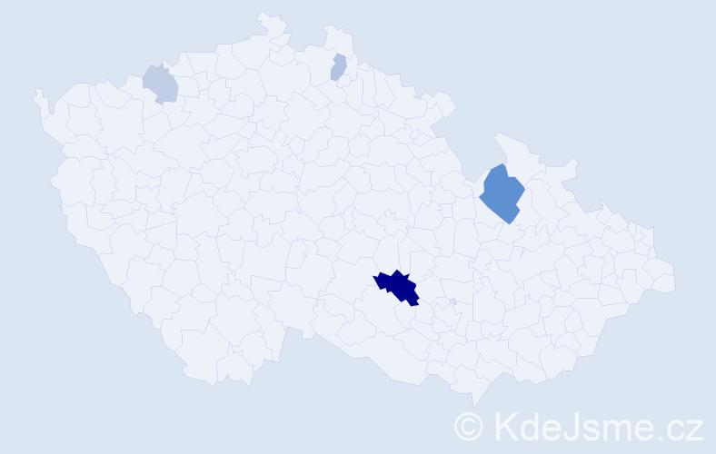 Příjmení: 'Fleck', počet výskytů 11 v celé ČR