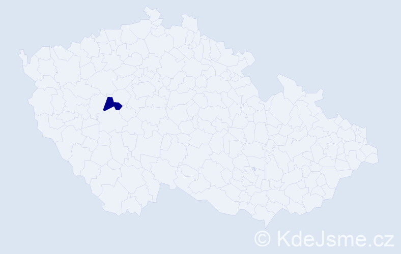 """Příjmení: '""""Kašpar Perglová""""', počet výskytů 1 v celé ČR"""