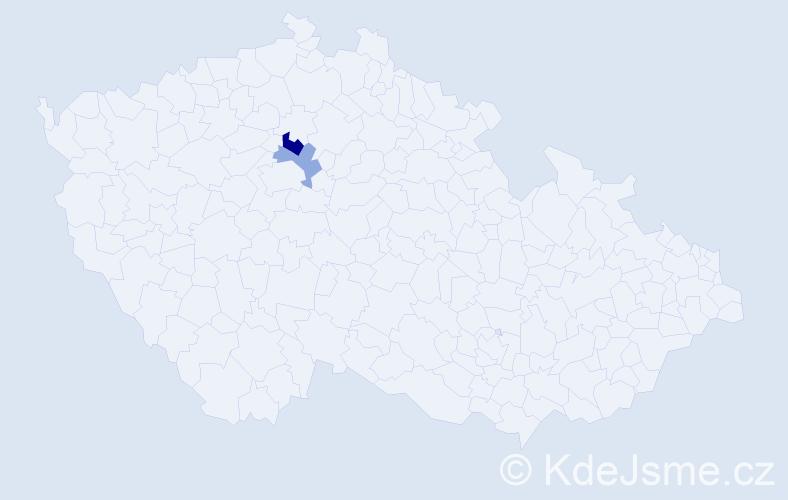 Příjmení: 'Bušínský', počet výskytů 6 v celé ČR