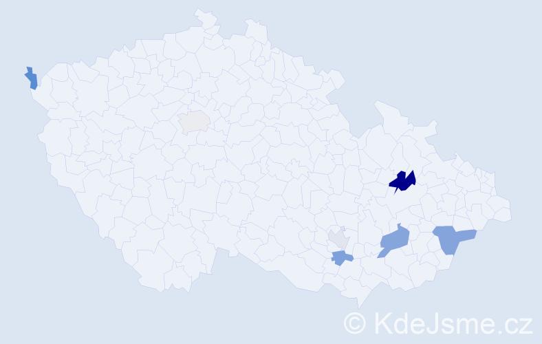 Příjmení: 'Alan', počet výskytů 11 v celé ČR