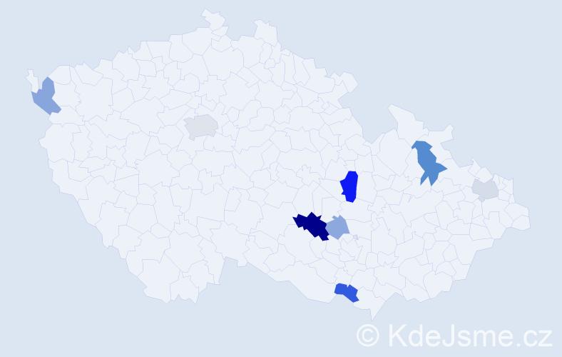 Příjmení: 'Juránová', počet výskytů 24 v celé ČR