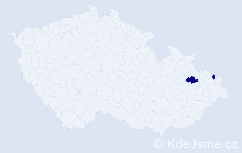 Příjmení: 'Grygerčík', počet výskytů 3 v celé ČR