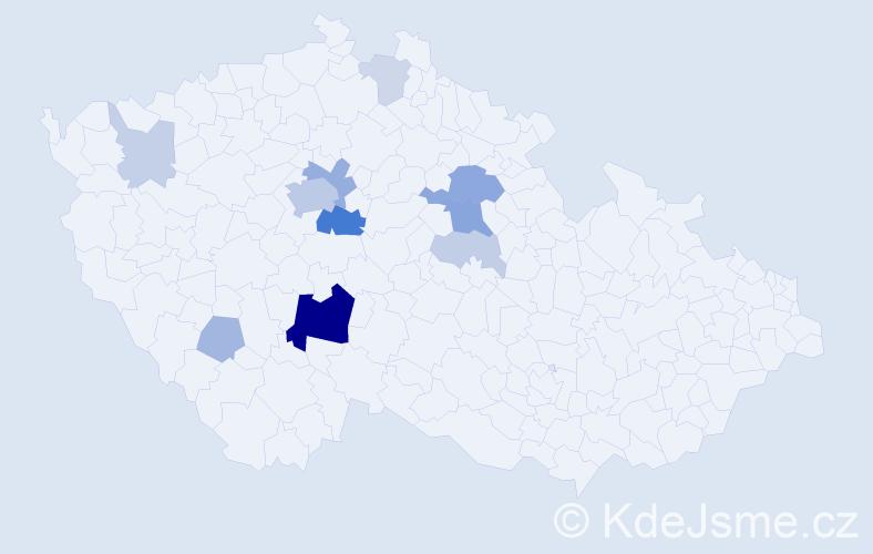 Příjmení: 'Čásenský', počet výskytů 36 v celé ČR