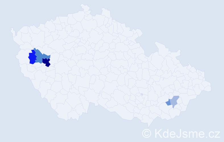 Příjmení: 'Feiferlíková', počet výskytů 15 v celé ČR