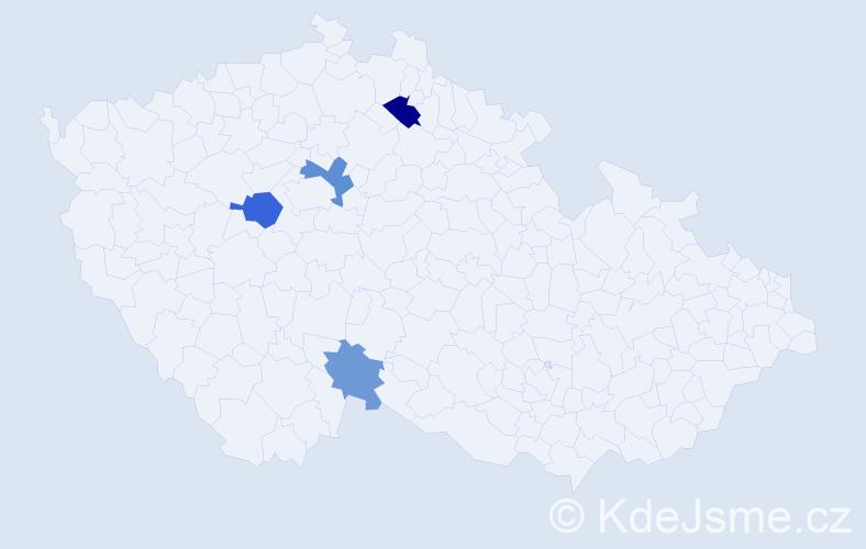 Příjmení: 'Krolmus', počet výskytů 7 v celé ČR