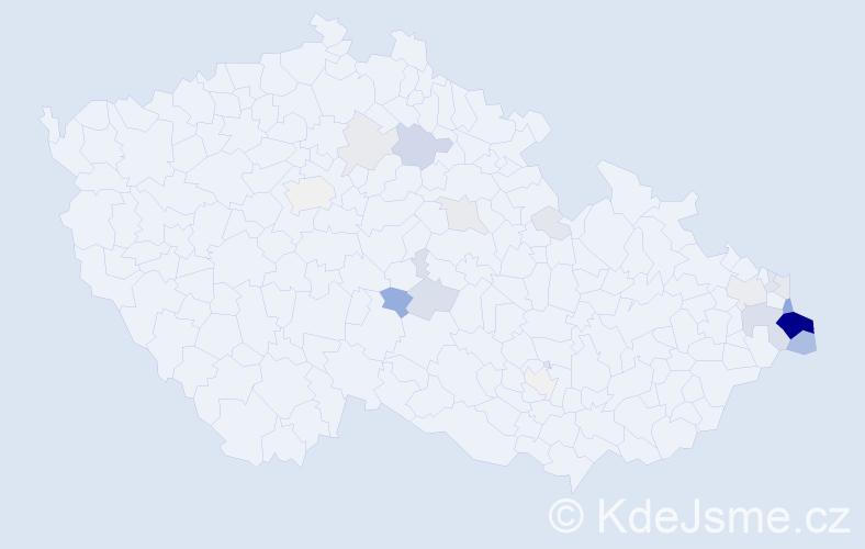 Příjmení: 'Cymorek', počet výskytů 111 v celé ČR