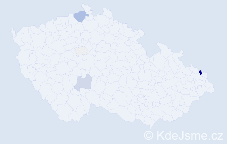 Příjmení: 'Jamárik', počet výskytů 10 v celé ČR