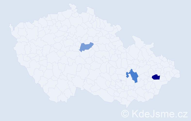 Příjmení: 'Erskine', počet výskytů 5 v celé ČR