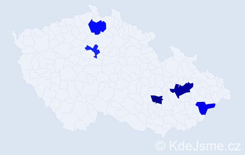 Příjmení: 'Karczub', počet výskytů 6 v celé ČR