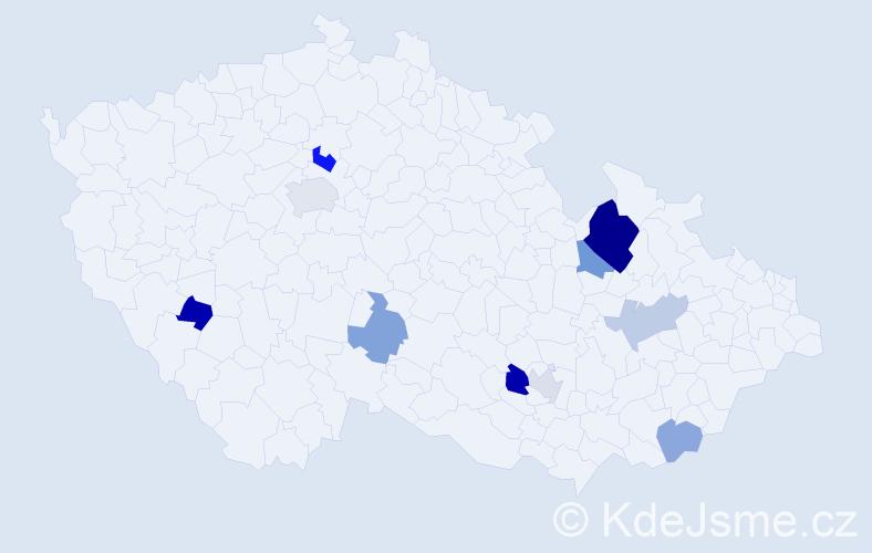 Příjmení: 'Kolembusová', počet výskytů 18 v celé ČR