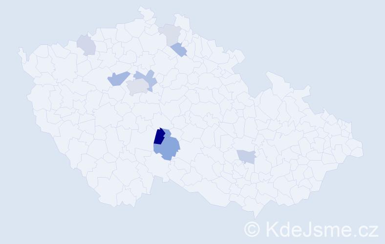 Příjmení: 'Lendr', počet výskytů 19 v celé ČR