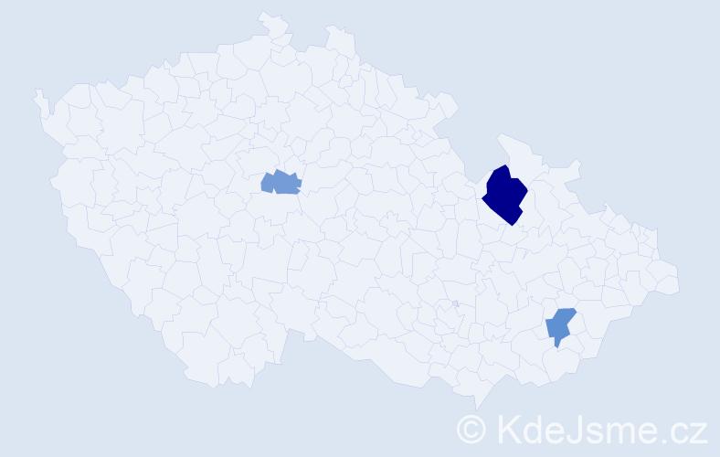 Příjmení: 'Fegut', počet výskytů 7 v celé ČR