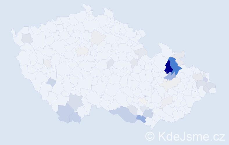 Příjmení: 'Brenkusová', počet výskytů 113 v celé ČR