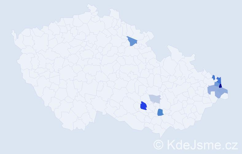 Příjmení: 'Gorecki', počet výskytů 33 v celé ČR