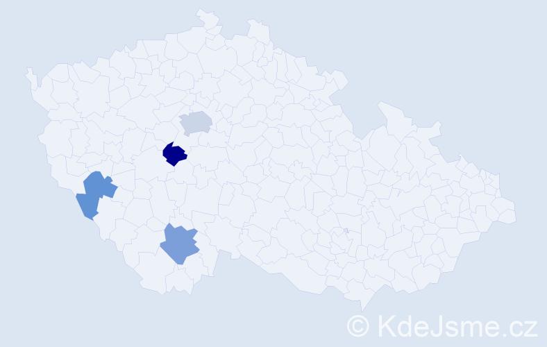 Příjmení: 'Ingeduld', počet výskytů 12 v celé ČR