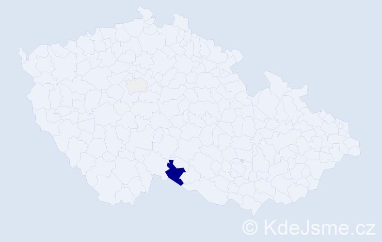 Příjmení: 'Kloiber', počet výskytů 6 v celé ČR