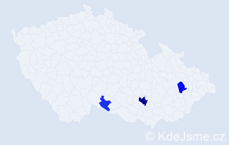 Příjmení: 'Funtyová', počet výskytů 20 v celé ČR