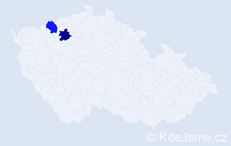 Příjmení: 'Gavronská', počet výskytů 9 v celé ČR