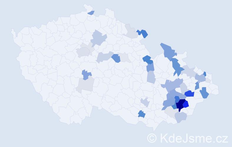 Příjmení: 'Jadrníček', počet výskytů 153 v celé ČR