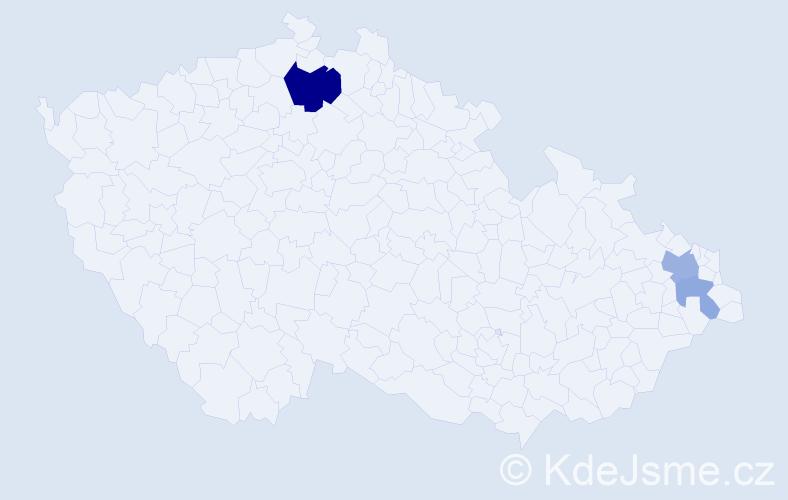 Příjmení: 'Halabalík', počet výskytů 7 v celé ČR