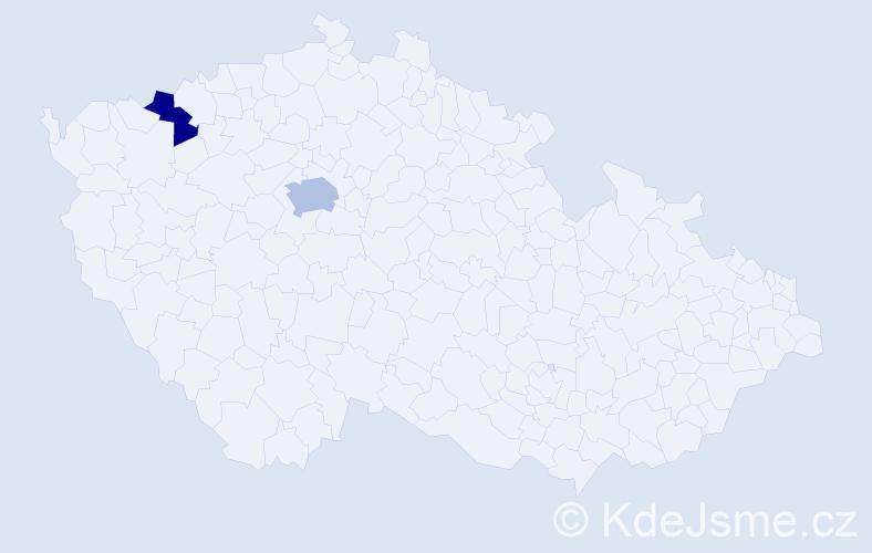 Příjmení: 'Iskerková', počet výskytů 3 v celé ČR