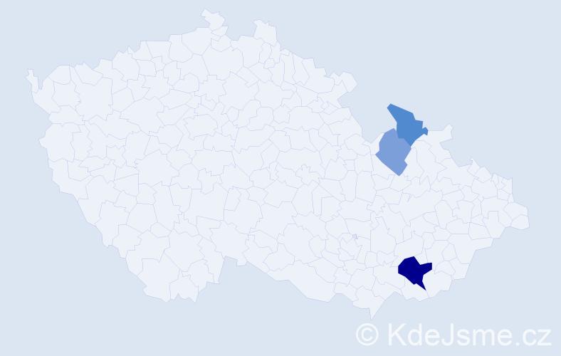 Příjmení: 'Afonso', počet výskytů 6 v celé ČR