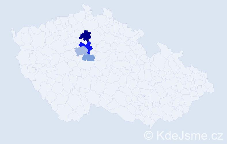 Příjmení: 'Iltis', počet výskytů 15 v celé ČR