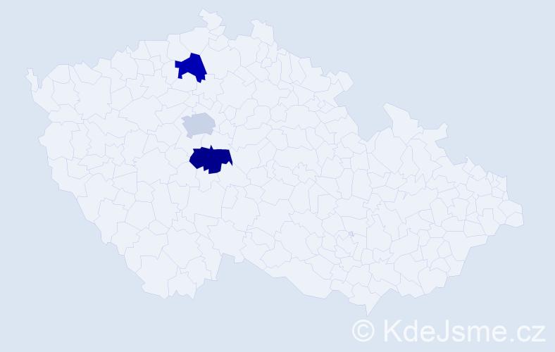 Příjmení: 'Časič', počet výskytů 3 v celé ČR