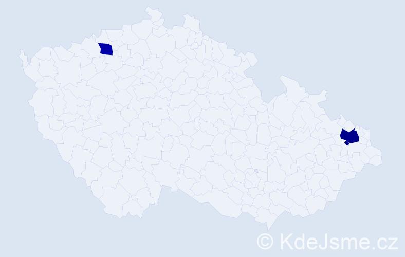 Příjmení: 'Dávidková', počet výskytů 4 v celé ČR