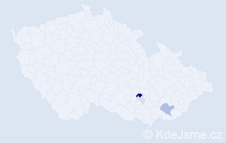 Příjmení: 'Florcová', počet výskytů 4 v celé ČR