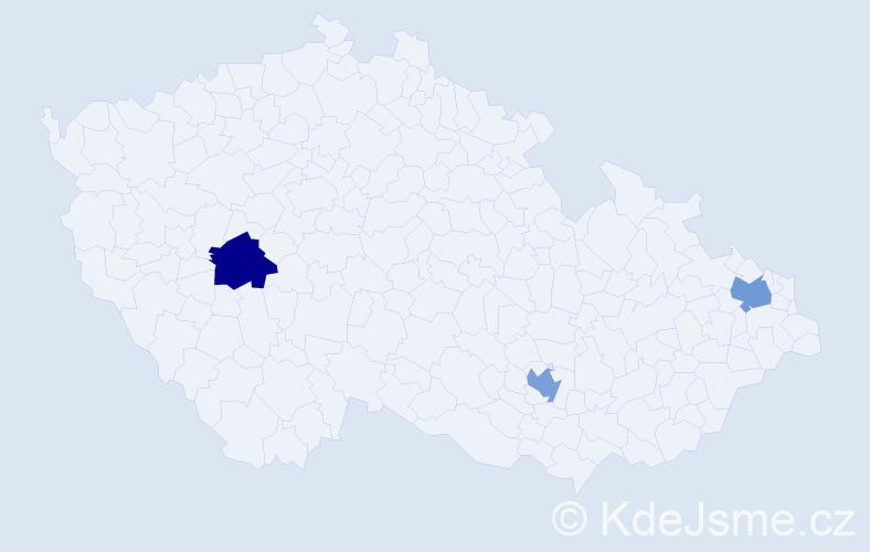 Příjmení: 'Babrajová', počet výskytů 3 v celé ČR