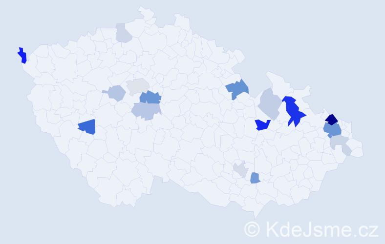 Příjmení: 'Boberová', počet výskytů 43 v celé ČR