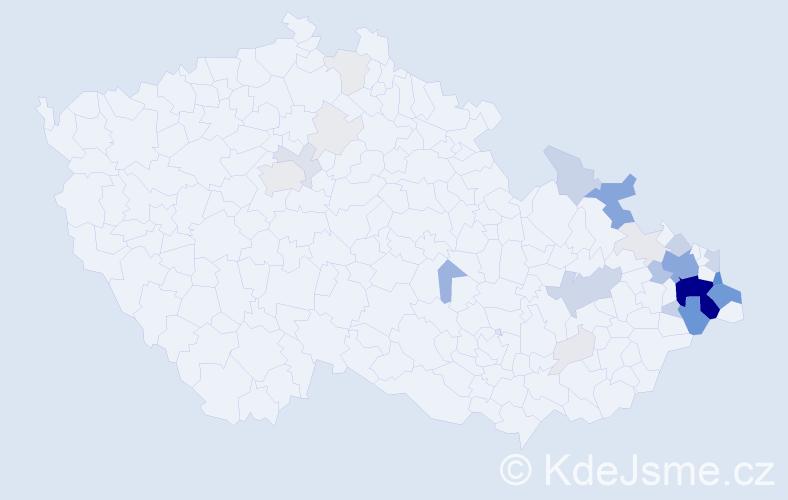Příjmení: 'Hlisnikovský', počet výskytů 137 v celé ČR