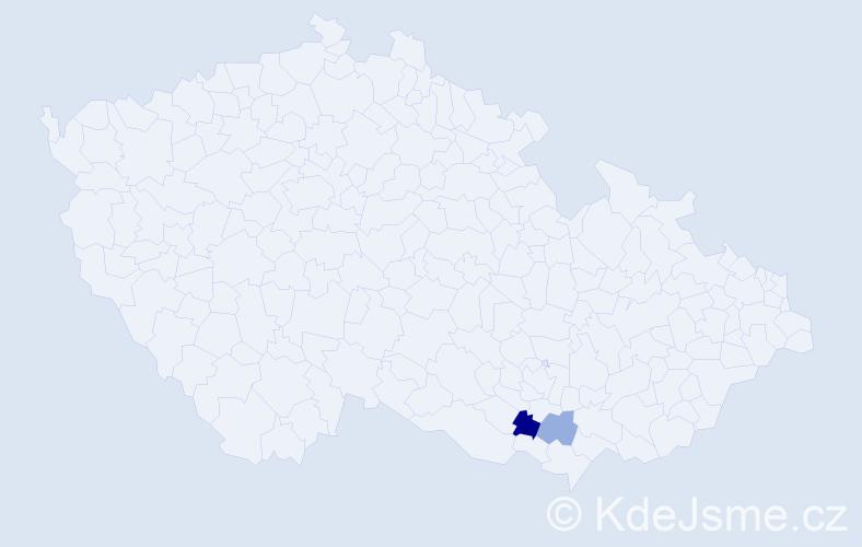 Příjmení: 'Fiema', počet výskytů 3 v celé ČR