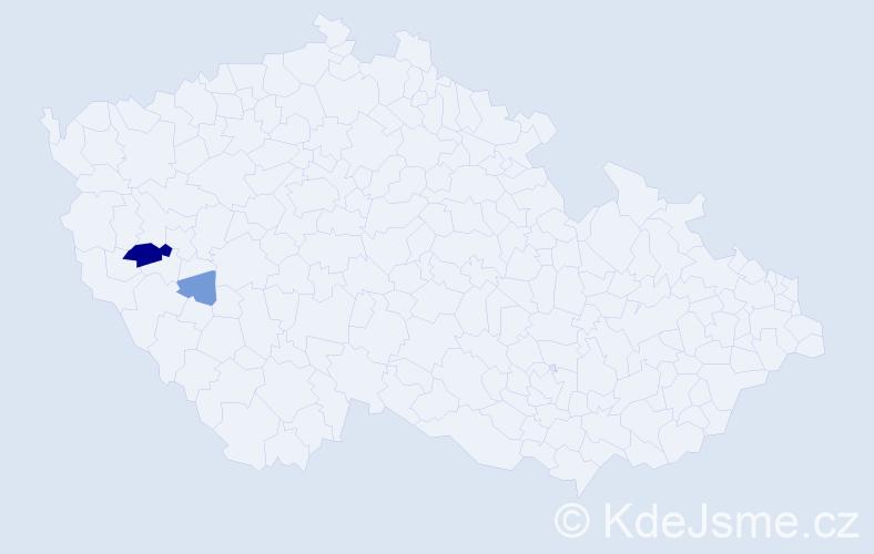 Příjmení: 'Ebelenderová', počet výskytů 7 v celé ČR