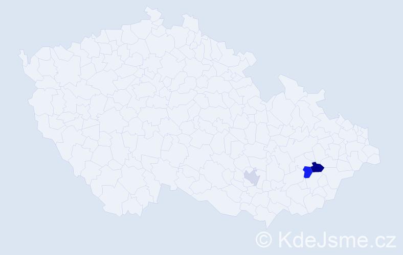 Příjmení: 'Galasovský', počet výskytů 6 v celé ČR