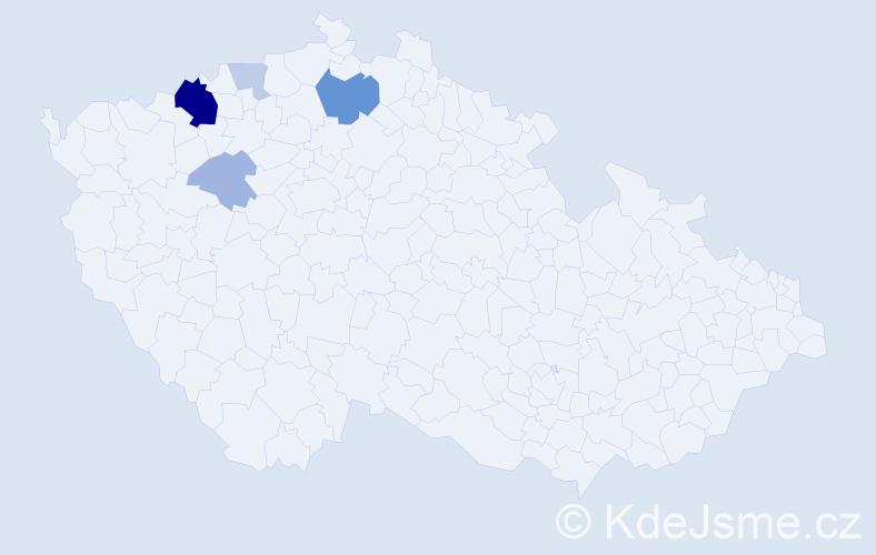 Příjmení: 'Holubčák', počet výskytů 13 v celé ČR