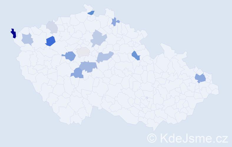 Příjmení: 'Anyalai', počet výskytů 36 v celé ČR