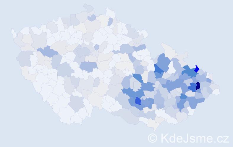 Příjmení: 'Jašková', počet výskytů 1315 v celé ČR