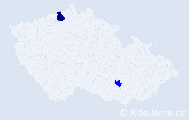 Příjmení: 'Bělkovský', počet výskytů 3 v celé ČR