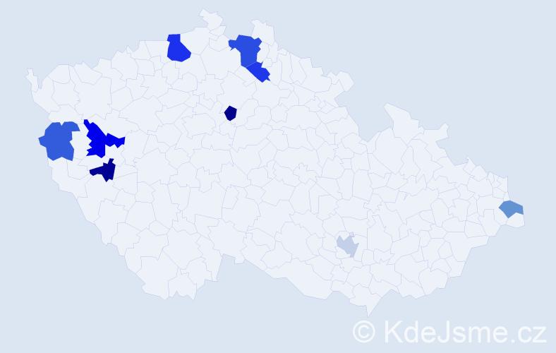 Příjmení: 'Basarab', počet výskytů 14 v celé ČR
