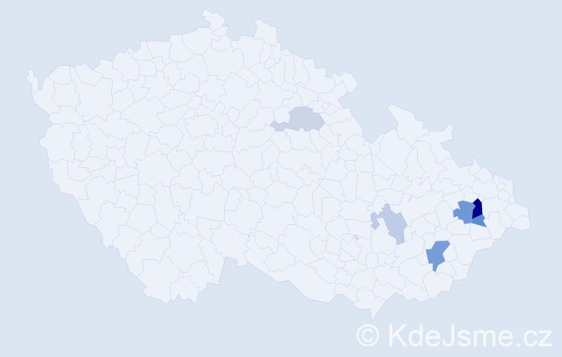 Příjmení: 'Esler', počet výskytů 13 v celé ČR