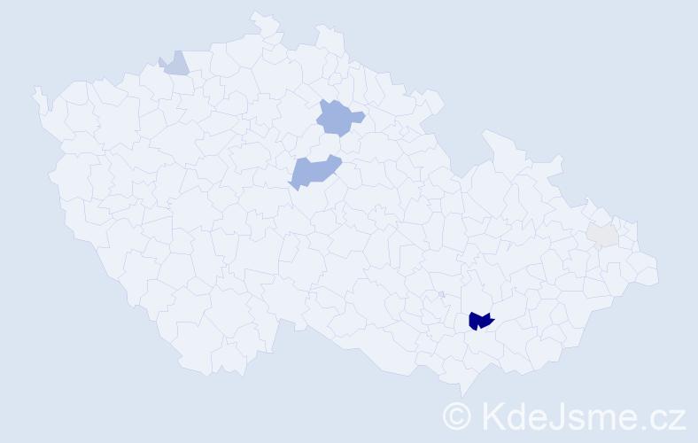 Příjmení: 'Cristea', počet výskytů 11 v celé ČR