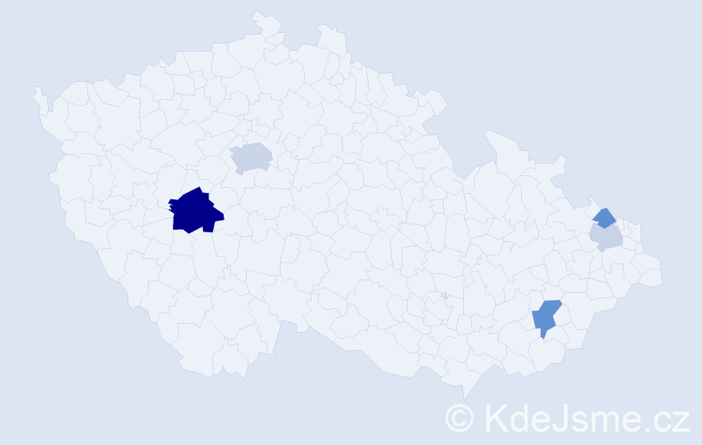 Příjmení: 'Čajko', počet výskytů 11 v celé ČR