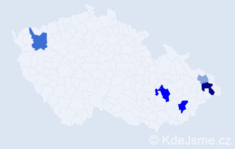 Příjmení: 'Čepel', počet výskytů 14 v celé ČR