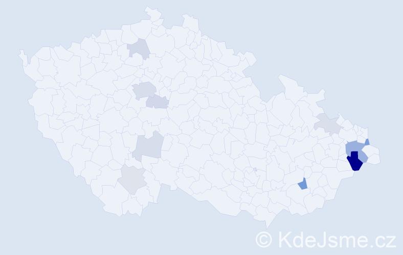 Příjmení: 'Karlická', počet výskytů 29 v celé ČR