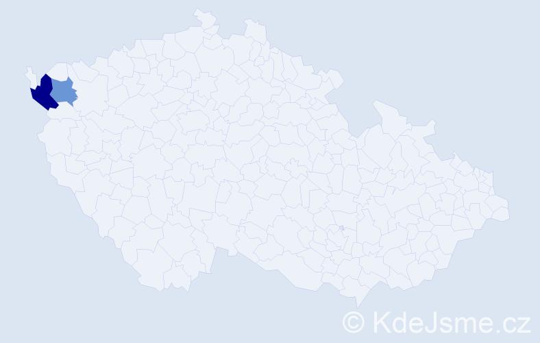 Příjmení: 'Hlovošková', počet výskytů 3 v celé ČR