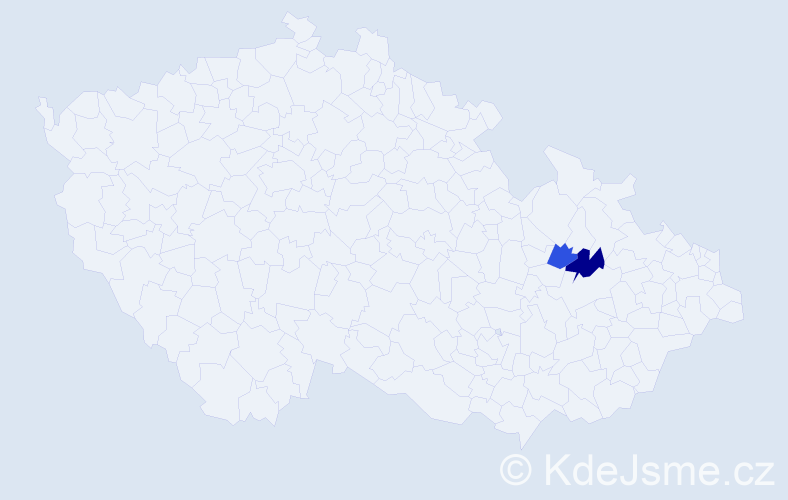 Příjmení: 'Guxová', počet výskytů 8 v celé ČR