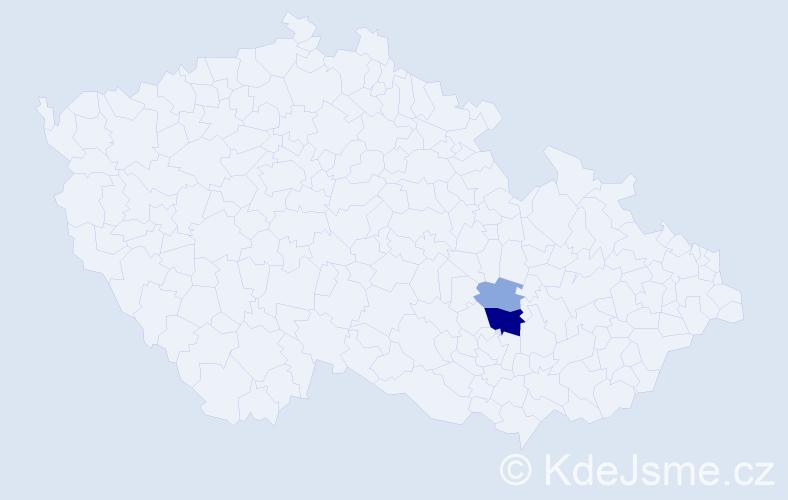 Příjmení: 'Hajdamach', počet výskytů 6 v celé ČR