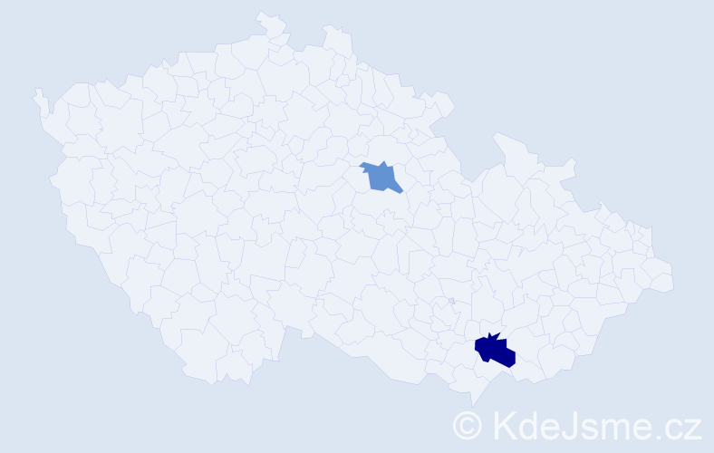 Příjmení: 'Chimiák', počet výskytů 5 v celé ČR
